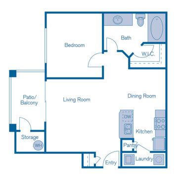 1099 floor plan