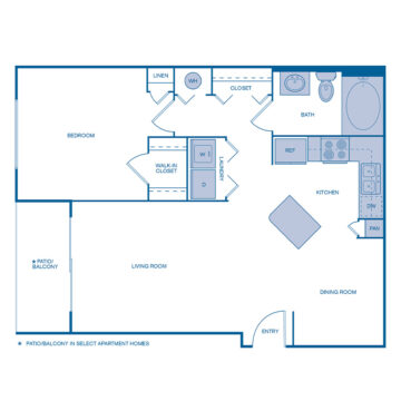 B-205 floor plan