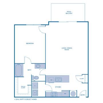 E-0205 floor plan