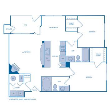 E-308 floor plan