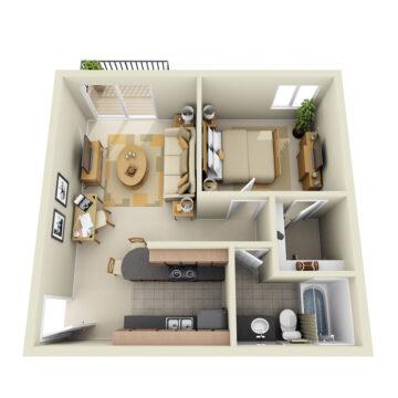 B1-218 floor plan